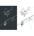 jib crane close-up outline vector image vector image