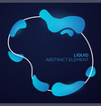 liquid colorful shapes abstract modern vector image vector image