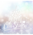 Merry Christmas congratulations card on blurry vector image