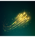 Meteor shower icon of shooting stars in night sky vector image