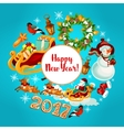 New Year winter holidays design vector image