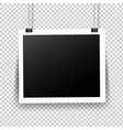 photo frame with tape in transparent background vector image