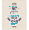 Quote Typographical Background design vector image vector image