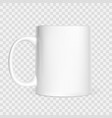 realistic white cup isolated on white background vector image vector image