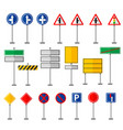 road symbols traffic signs graphic elements vector image vector image