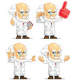 Scientist or Professor Customizable Mascot 4 vector image vector image