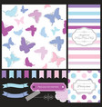scrapbook design elements set vector image vector image