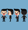 set of young male businessman vector image