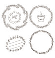 set wreaths and labels vector image vector image