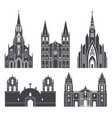 south america american buildings on white vector image vector image