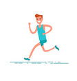 sportsman character young adult man running vector image