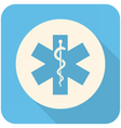 Star of Life icon vector image