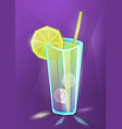 summer cocktail lemonade or juice vector image vector image