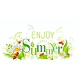Summer natural background design with beautiful vector image vector image