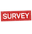 survey grunge rubber stamp vector image vector image