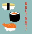 Sushi Delight vector image vector image