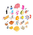 trade icons set isometric style vector image