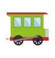 train toy kid isolated icon vector image vector image