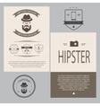 Vintage hipster design elements set vector image vector image