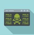 virus attack icon flat style vector image vector image