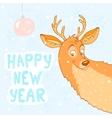 deer new year vector image
