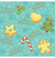 Vintage Christmas seamless vector image