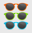 3d realistic plastic orange green and blue vector image vector image