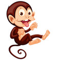 a playful monkey character vector image