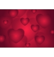 Abstract red Valentines Day hearts background vector image vector image