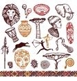 africa doodle set vector image vector image