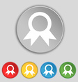 Award Prize for winner icon sign Symbol on five vector image vector image