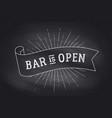 bar open chalk board vector image