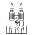 Basilica of Our Lady of Lujan icon outline style
