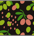brush grunge olives seamless pattern vector image