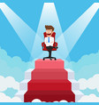 businessman going up to success vector image vector image