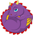 cartoon baby dragon sleeping vector image vector image