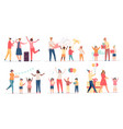 children at birthday party happy kids with cake vector image vector image