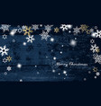 christmas dark background with golden - white vector image