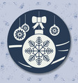 christmas icon with balls vector image vector image