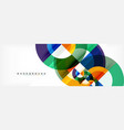 Circular geometric abstract background