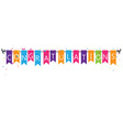 Congratulations with bunting flags vector image vector image