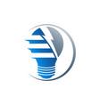 creative bulb logo smart idea logo light bulb vector image vector image
