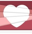 Creative Valentines day card Asymmetric heart vector image