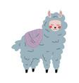 cute llama adorable alpaca animal character in vector image