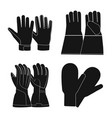 design of glove and winter sign set of vector image