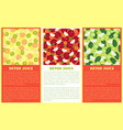 detox juice poster ingredients of refreshing drink vector image vector image