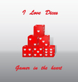 Dices heart vector image