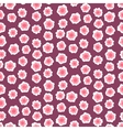 Ditsy floral pattern with small pink flowers vector image