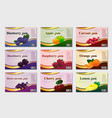 fruit jam lebel set template vector image vector image