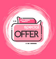 geometric bubble isolated special offer tag vector image